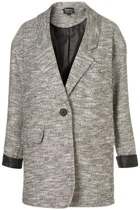 Lightweight Tweed Boyfriend Coat
