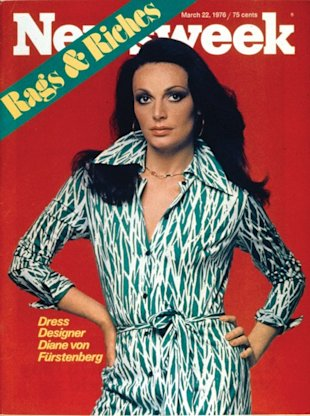 The 1976 cover that cemented her status as a fashion tycoon; Photo Courtesy of DVF
