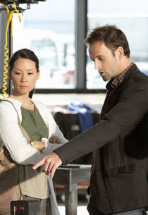 Lucy Liu and Jonny Lee Miller | Photo Credits: Giovanni Rufino/CBS