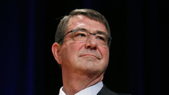 Defense Secretary Carter attends a ceremonial swearing in ceremony at the Pentagon in Washington