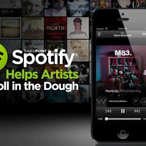 SOME SPOTIFY ARTISTS ROLL IN THE DOUGH