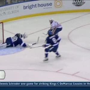 Ben Bishop denies Gordon with the glove