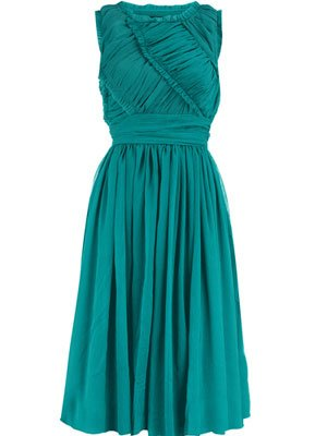 Dorothy Perkins Green Ruched …