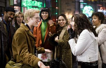 Jesse L. Martin , Adam Pascal , Anthony Rapp , Wilson Jermaine Heredia , Rosario Dawson , Idina Menzel and Tracie Thoms in Columbia Pictures' Rent