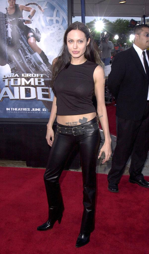 Angelina Jolie's 15 most memorable red carpet looks Lara Croft 2001