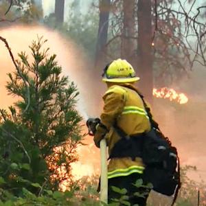 California wildfire explodes in size overnight