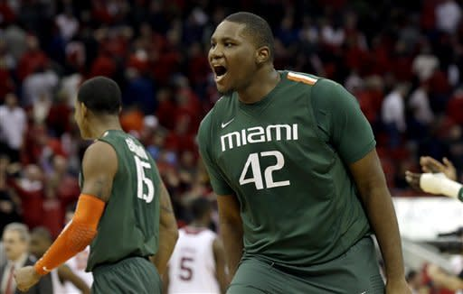 No. 14 Miami edges No. 19 NC State 79-78