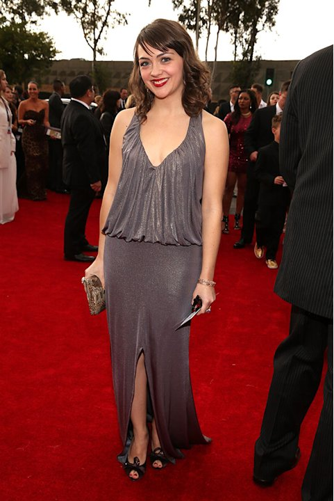 The 55th Annual GRAMMY Awards - Red Carpet: Neyla Pekarek