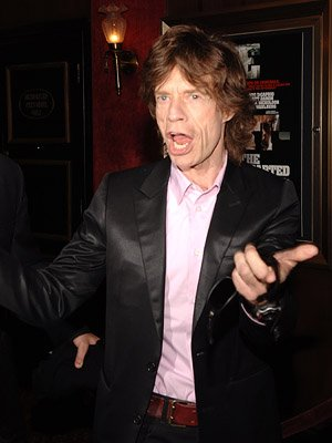 Mick Jagger at the New York premiere of Warner Bros. Pictures' The Departed