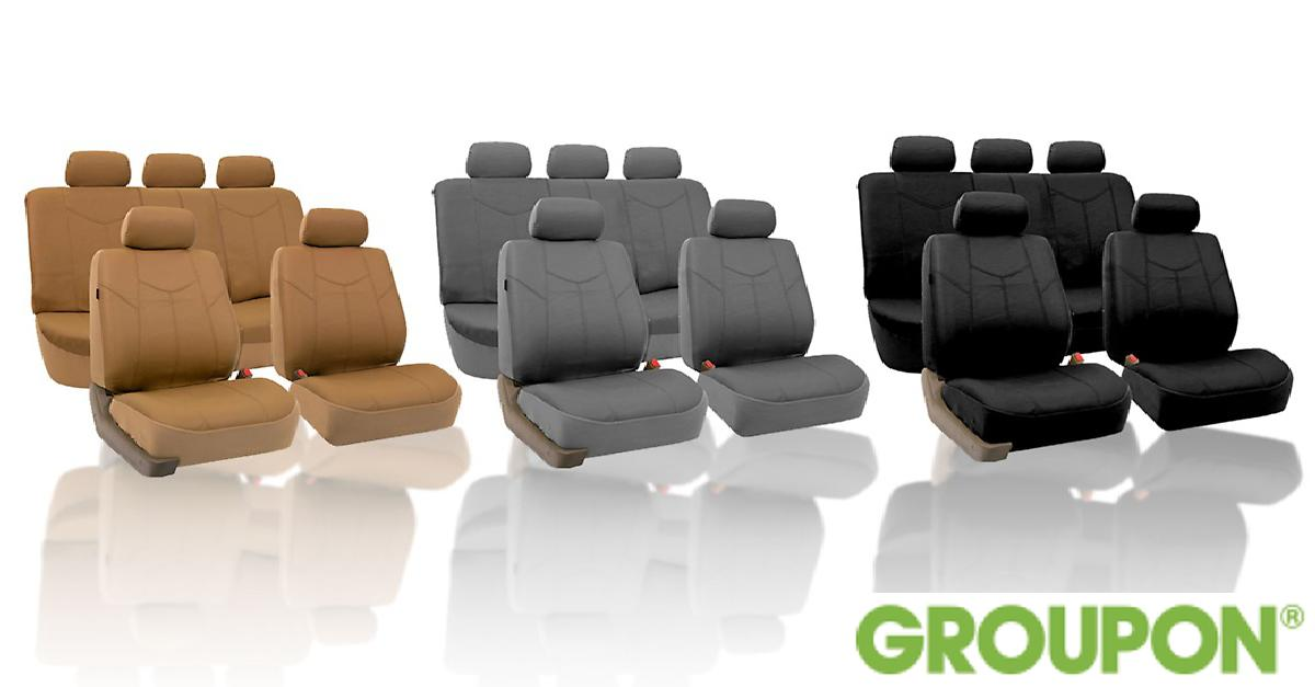 62% Off on Faux Leather Car Seat Covers