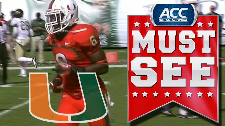 Miami's Duke Johnson Rushes For Game Winning TD vs Wake | ACC Must See Moment