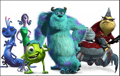 Randall ( Steve Buscemi ), Celia ( Jennifer Tilly ), Mike Wazowski ( Billy Crystal ), Sully ( John Goodman ), Waternoose ( James Coburn ) and Roz ( Bob Peterson ) in Disney's Monsters, Inc.
