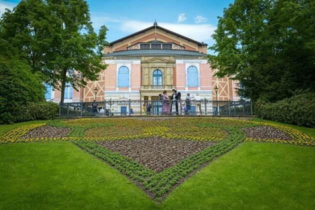 A view of the Bayreuth music festival house on May 19, 2013 in Bayreuth, southern Germany