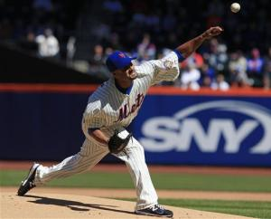Santana goes 5 innings, Mets beat Braves 1-0