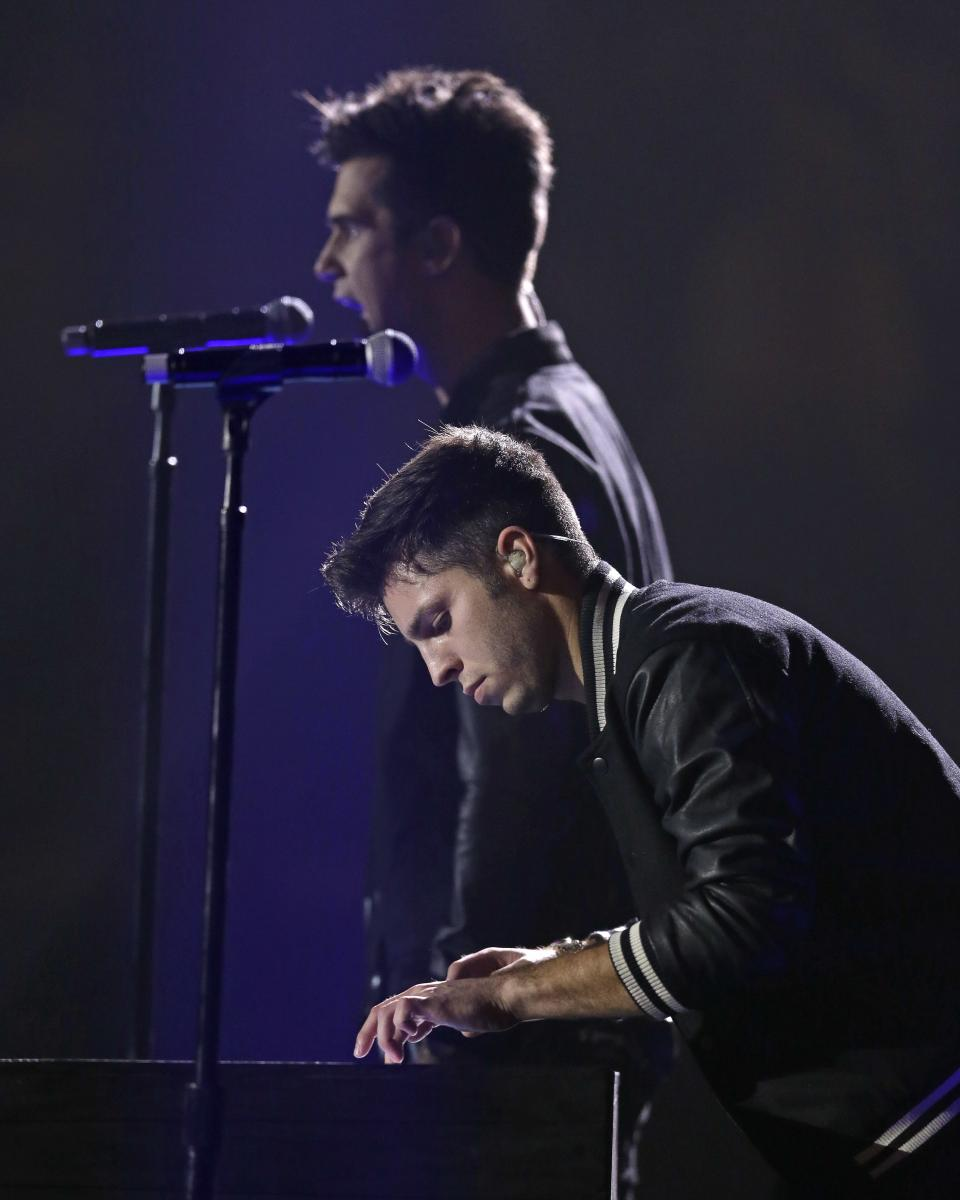 Capital Kings perform at the Dove Awards on Tuesday, Oct. 15, 2013, in Nashville, Tenn. (AP Photo/Mark Humphrey)