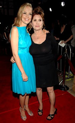 Pell James and Carrie Fisher at the Hollywood premiere of Lions Gate Films' Undiscovered