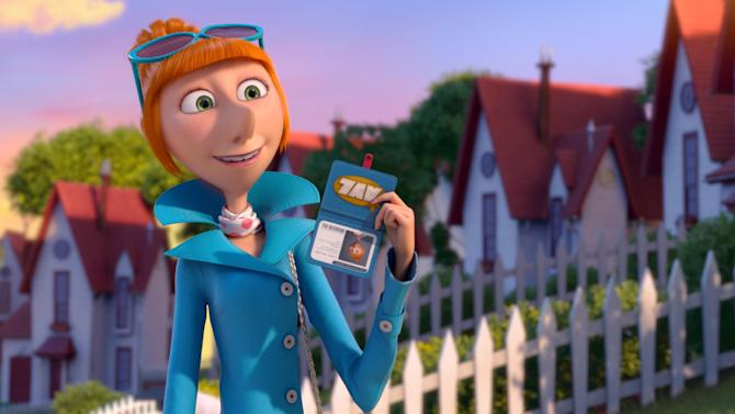 """This film publicity image released by Universal Pictures shows the character Lucy, voiced by Kristen Wiig in """"Despicable Me 2."""" (AP Photo/Universal Pictures)"""