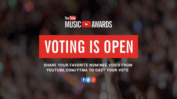 YouTube Music Awards 2013 nominees revealed, voting starts today