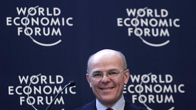 File photo of Greco, Group CEO of Generali, speaking during the annual meeting of the World Economic Forum in Davos