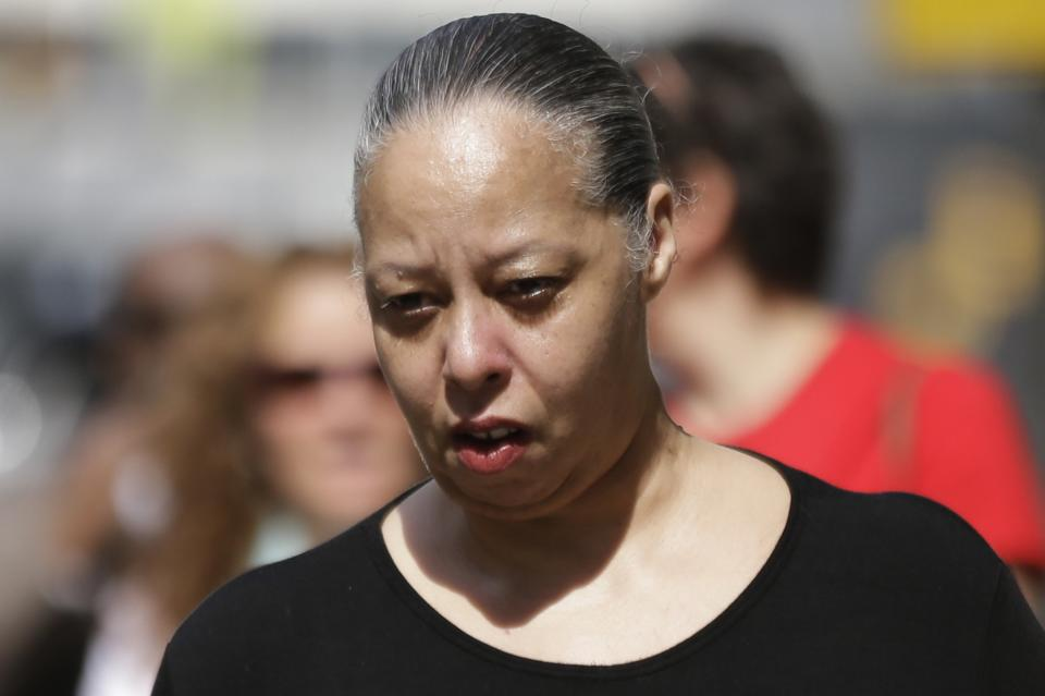 Pearl Gosnell, wife of Kermit Gosnell, walks to the center for criminal justice, Wednesday, May 29, 2013, in Philadelphia. Pearl Gosnell is scheduled to be sentenced Wednesday for performing illegal, third-term abortions. (AP Photo/Matt Rourke)