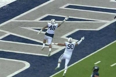 280-pound BYU lineman jukes the heck out of a fellow big man on a TD sprint