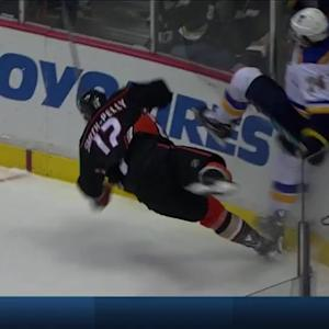 Smith-Pelly sends Oshie flying into boards