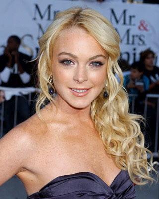 Lindsay Lohan at the Los Angeles premiere of 20th Century Fox's Mr. & Mrs. Smith