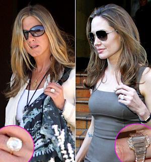 Jennifer Aniston vs. Angelina Jolie: Compare Their Engagement Rings!