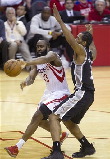 Harden's late jumper lifts Rockets over Spurs