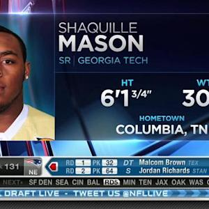New England Patriots pick guard Shaquille Mason No. 131 in 2015 NFL Draft