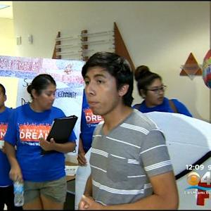 Immigrant Minors Gather To Protest At Marco Rubio's Office