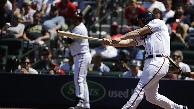 Gattis' double helps Braves top Marlins 3-1