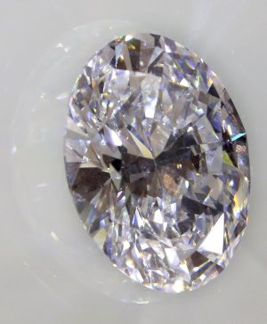A 118-carat white diamond is on display at Sotheby's,…