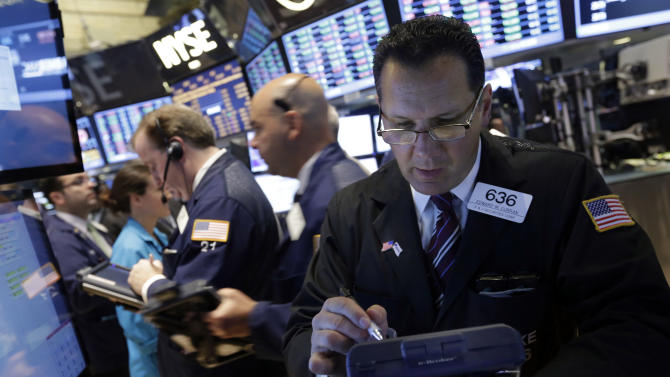 Stocks inch higher, setting new records