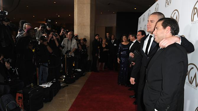 Channing Tatum, left, and Jonah Hill arrive at the 24th Annual Producers Guild (PGA) Awards at the Beverly Hilton Hotel on Saturday Jan. 26, 2013, in Beverly Hills, Calif. (Photo by Jordan Strauss/Invision for The Producers Guild/AP Images)