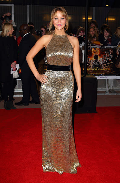 "In London for a ""The Hunger Game"" premiere, March 2012"