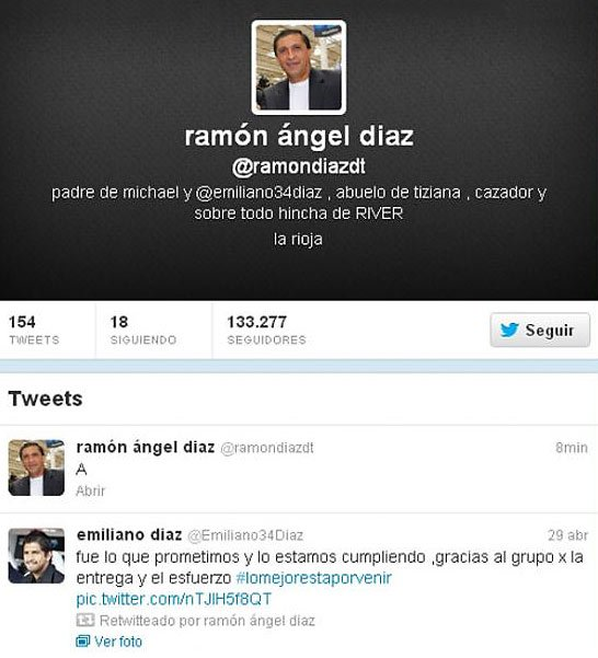 El pol&#xE9;mico tweet de Ram&#xF3;n D&#xED;az. (Foto: Twitter @ramondiazdt)