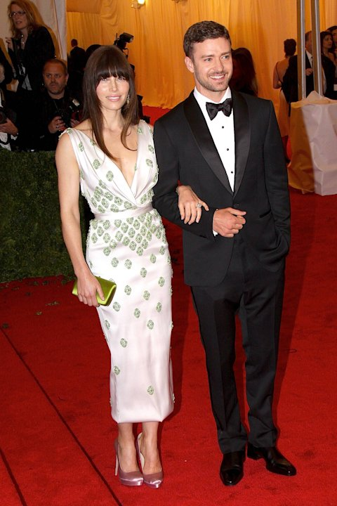 Justin Timberlake and Jessica Biel Schiaparelli and Prada 'Impossible Conversations' Costume Institute Gala at The Metropolitan Museum of Art  New York City, USA - 07.05.12Credit: (Mandatory):