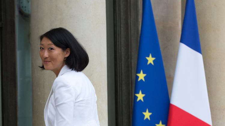 Newly-named French Culture Minister Fleur Pellerin arrives at the Elysee Palace to attend the weekly cabinet meeting after a government reshuffle in Paris