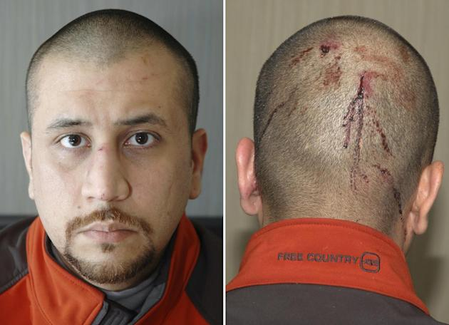 This combo made from Feb. 27, 2012 photos released by the State Attorney's Office shows George Zimmerman, the neighborhood watch volunteer who shot Trayvon Martin. The photo and reports were among evi