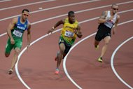 Brazil's Bruno de Barros, Jamaica's Yohan Blake and Canada's Jared Connaughton are seen competing in the men's 200m semi-finals at the athletics event of the London 2012 Olympic Games, on August 8. Jamaica have so far dominated both men's and women's sprints and many there dare to believe that they can shut out the rest of the world in the 200m