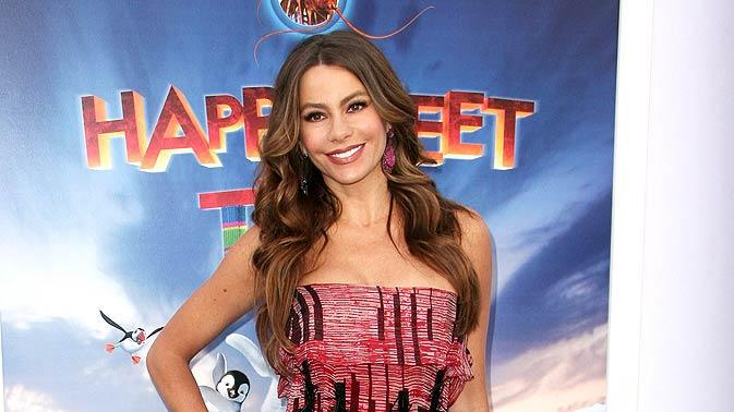 Sofia Vergara Happy Feet Two Premiere