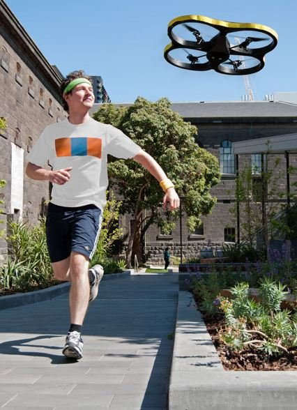 3. Jogging drone. Don't have …