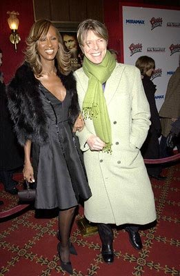 Iman and David Bowie at the New York premiere of Miramax's Gangs of New York
