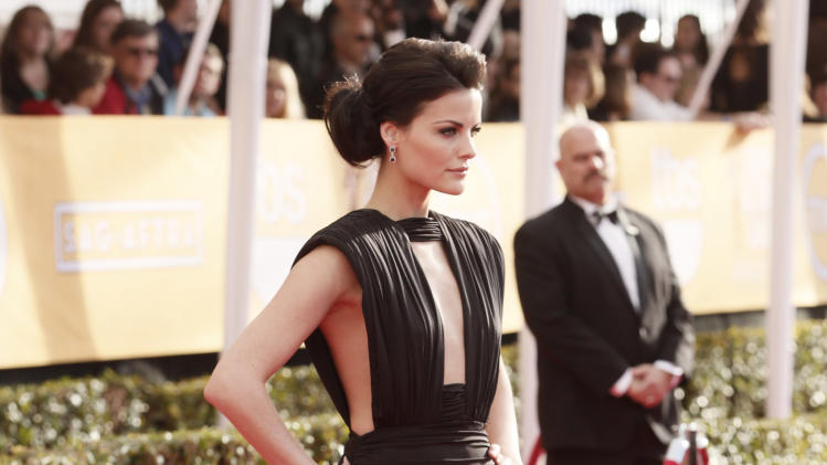 Jaimie Alexander arrives at the 19th Annual Screen Actors Guild Awards at the Shrine Auditorium in Los Angeles on Sunday Jan. 27, 2013. (Photo by Todd Williamson/Invision for The Hollywood Reporter/AP Images)