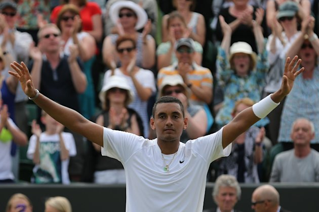 Kyrgios needed 10 match points to defeat No. 13 Richard Gasquet earlier in the tournament, but he made it and will face Rafael Nadal on Centre Court T...