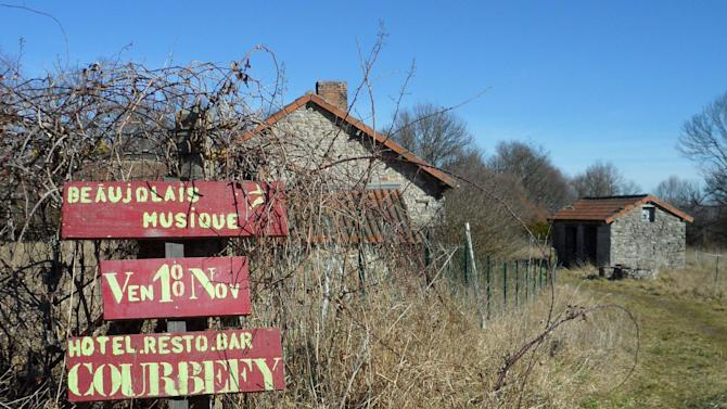 In this photo taken Tuesday Feb. 28, 2012, the French village of Saint Nicolas Courbefy, in Limousin, a region in central France, is seen for sale. The entire hamlet carried an asking price of just euro 300,000 ($440,000), the cost of a studio apartment in Paris. (AP Photo/Sarah DiLorenzo)