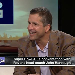 Baltimore Ravens head coach John Harbaugh on the Super Bowl experience