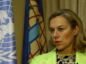 Sigrid Kaag, head of the joint OPCW-United Nations…