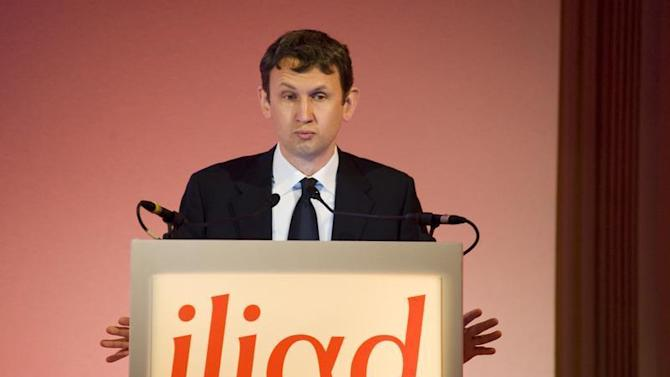 Maxime Lombardini, Chief Executive of French broadband Internet provider Iliad, speaks during the company's 2009 annual results presentation in Parisris